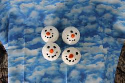 Snowman head ball ornaments