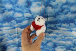 Polar Bear with Heart Ornament