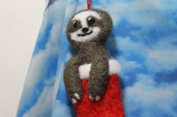 Sloth in a stocking!