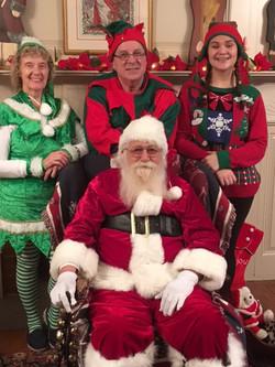 Santa at the house 1