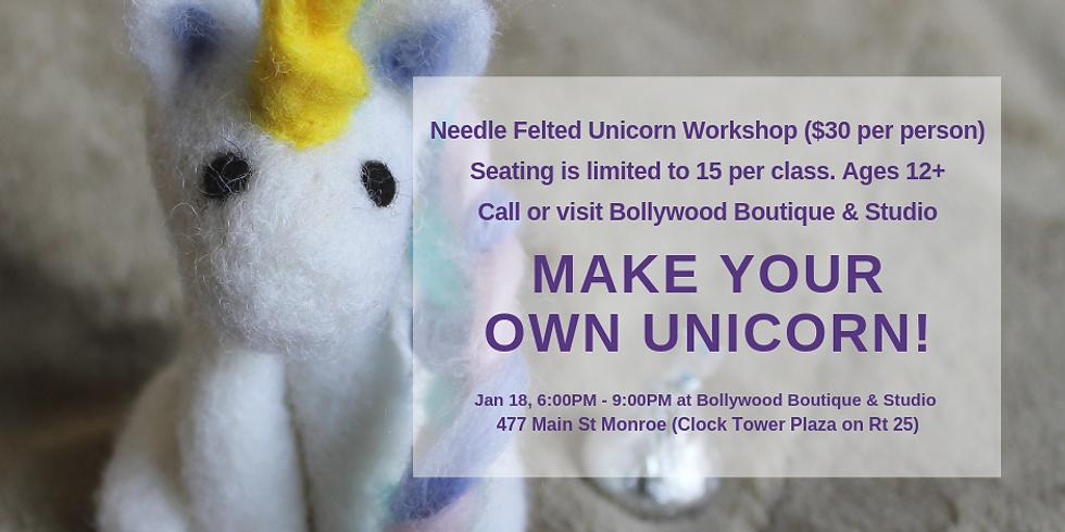 Needle Felted Unicorn Class
