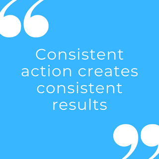 consistent action creates consistent res