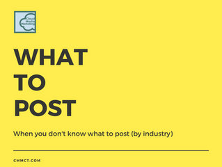 What to post when you don't know what to post (by industry)