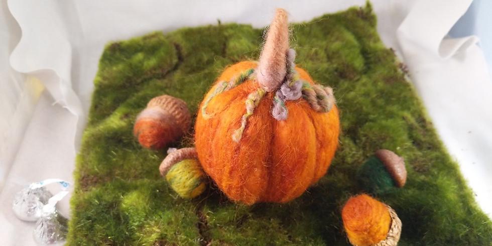 Free Needle Felting Demonstration - Pumpkins