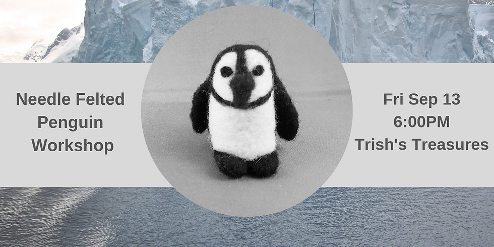 Make your own needle felted penguin!