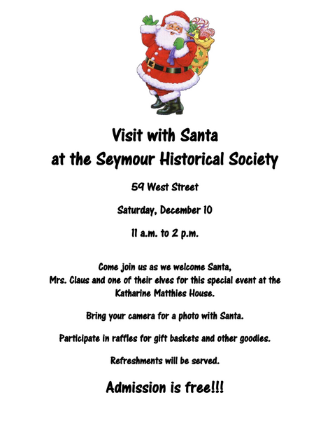 Visit With Santa At The Museum