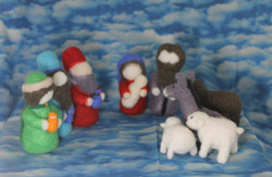 Felted Nativity Set