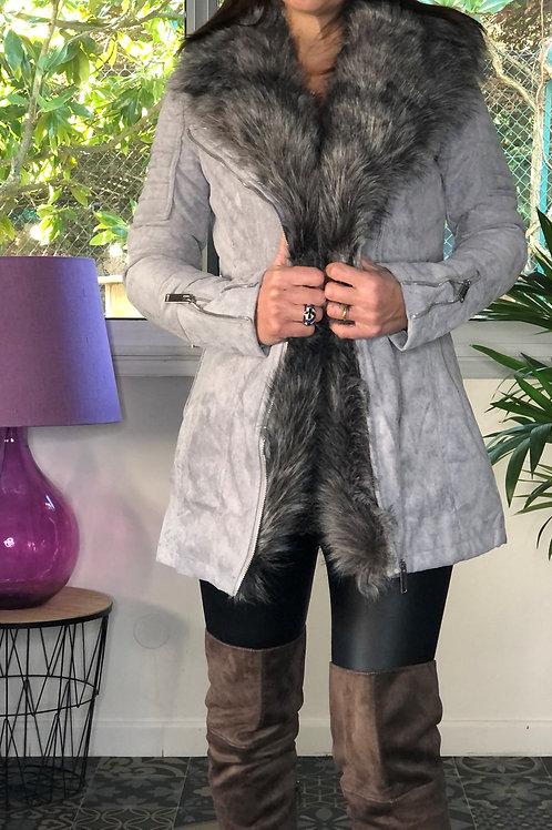Manteau avec fausse fourrure MEREDITH
