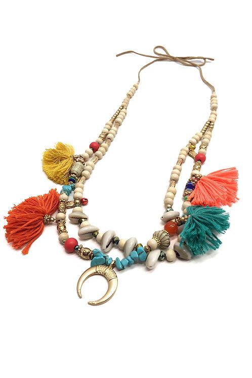 Collier de perles ethnique PERLE