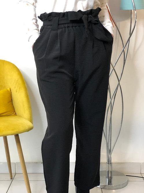 Pantalon noir avec ceinture