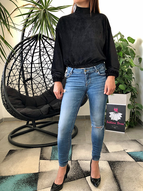 Pull effet velours LILOU