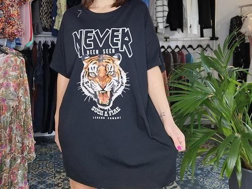 Robe sweat never tigre