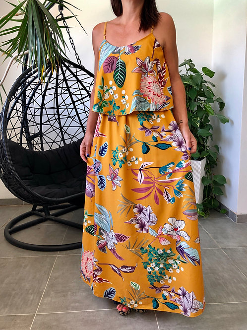 Robe longue tropicale JUSTYNA