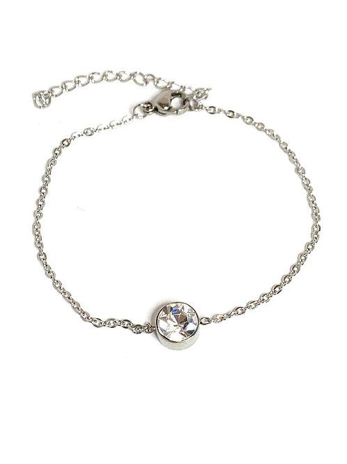 Bracelet acier strass
