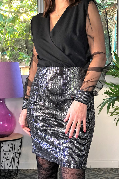 Robe avec sequins HAPPY