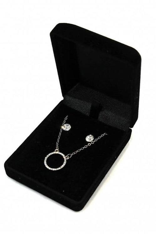 coffret bijoux en métal CERCLE STRASS