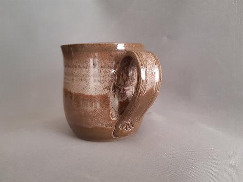 Set of Two large Ash glazed mugs