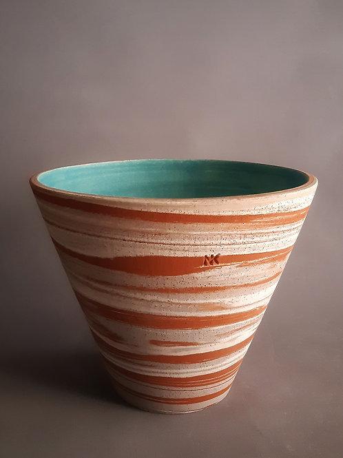 M0040IL  Marble Vase Crater Series