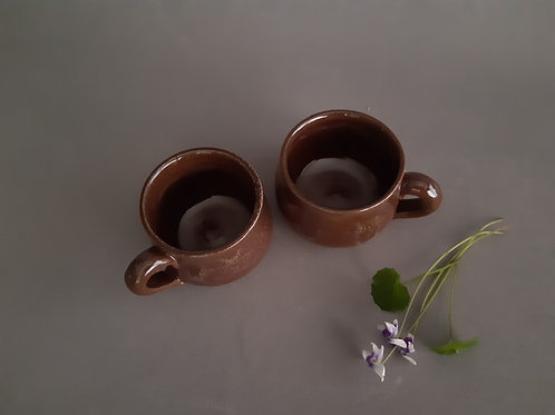 Set of Two espresso handles cups