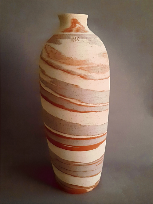 M0043IL Marble Vase Crater Series