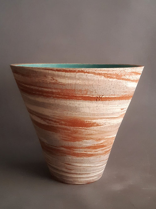 M0039IL  Marble Vase Crater Series