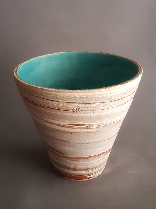 M0038IL  Marble Vase Crater Series