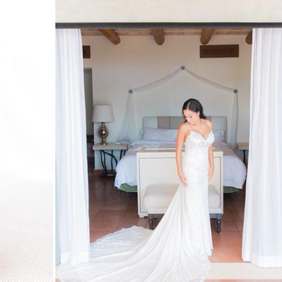 Taking in this beautiful dress! Destinat