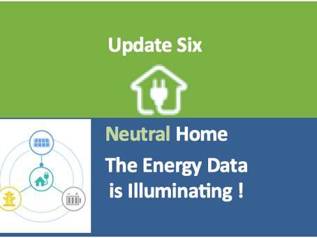 Neutral Home 6:  The Energy Data is Illuminating !