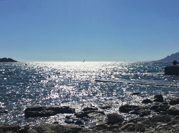 In Cannes am Meer