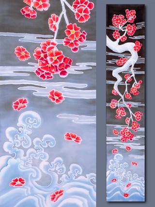Blooming Plum over Ocean