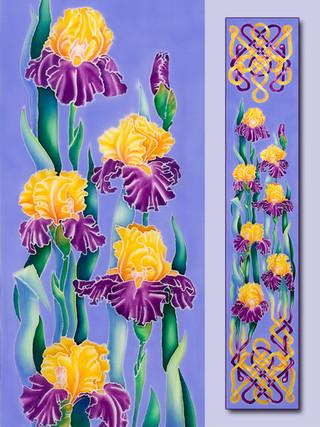 Irises with Keltic Knots