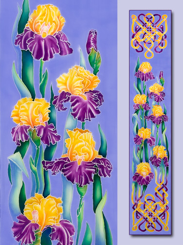 Irises with Keltic Knots