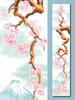Blooming Sakura over Fujiyama