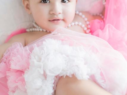 Valentine's baby darling on her 1st birthday