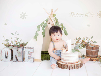 Vancouver and Fraser Valley amazing boho baby 1st Birthday cake smash baby boy smash cake Rochelle E
