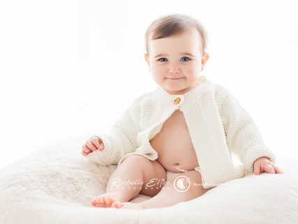 Little Miss Blue Eyes Turns 1 years old at Rochelle Elise Photography