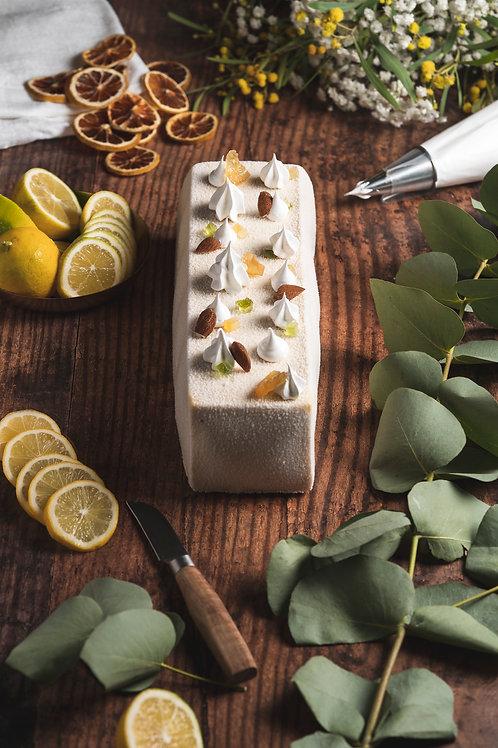 Bûche Amande d'Avola et Citron Corse pour 9 personnes