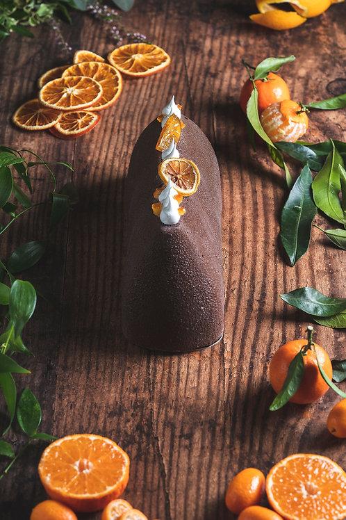 Bûche Chocolat Noir et Orange Corse pour 5 personnes