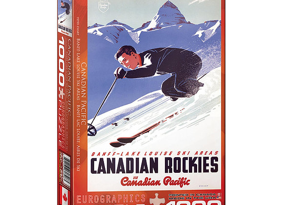 1000 Piece Puzzle - BANFF AND LAKE LOUISE SKI AREAS