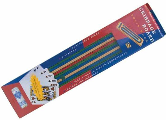 3 Color Track Cribbage with Cards