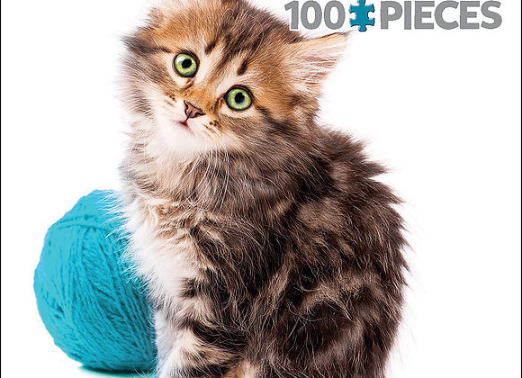 100 piece puzzle - Kitten with Wool