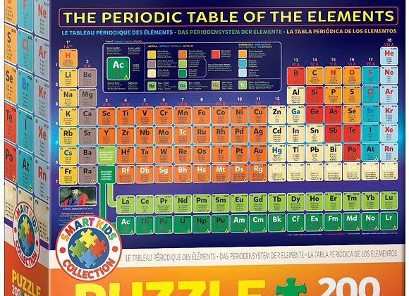 200 Piece Puzzle - The Periodic Table of Elements