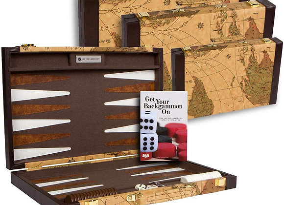 Backgammon (15 inch) World Map