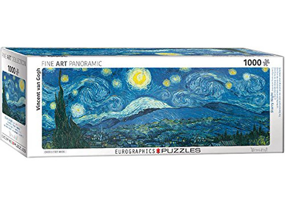 1000 Piece Panoramic Puzzle - Van Gogh, Vincent - Starry Night