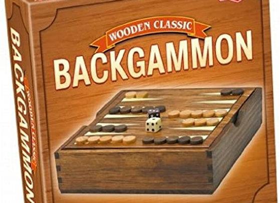 Tactic Backgammon in Handy Wooden Box