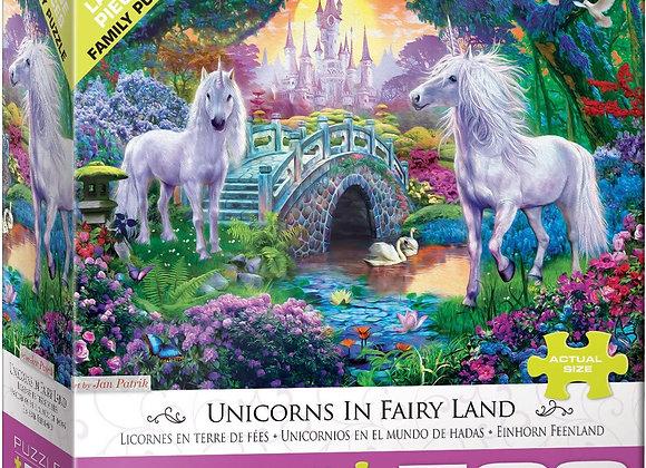 500 Piece Puzzle - Unicorns in Fairy Land