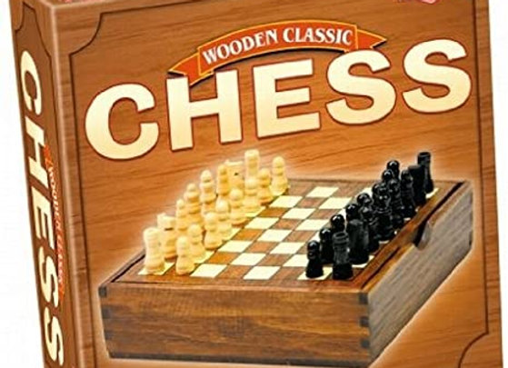 Tactic Chess in Handy Wooden Box