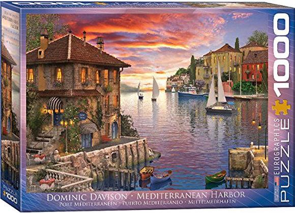 1000 Piece Puzzle - Mediterranean Harbor