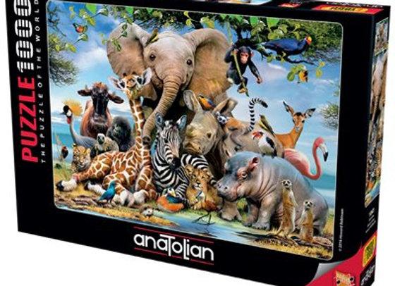 1000 Piece Puzzle - Africa Smile