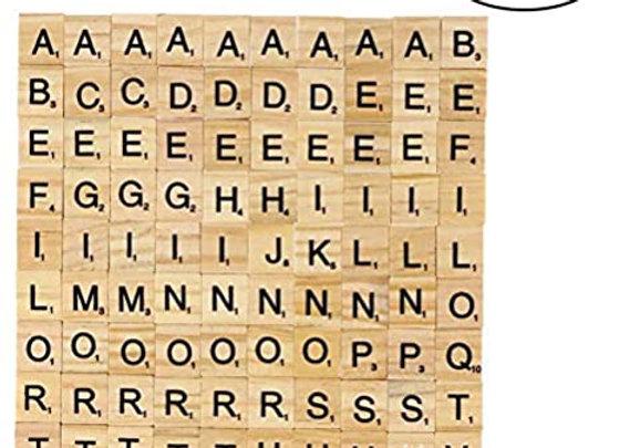 100pcs Scrabble Replacement Tiles